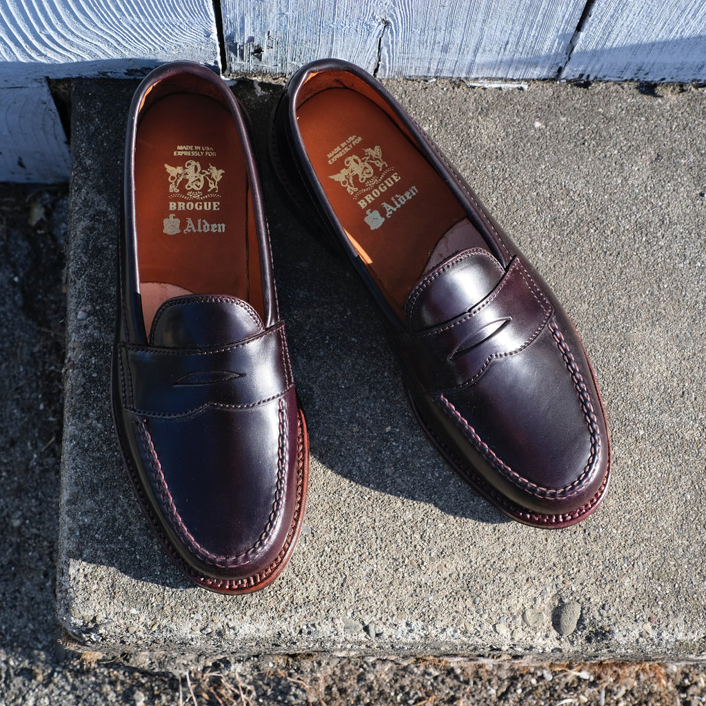 Alden x Brogue Antique Edge Leisure Handsewn Moccasin