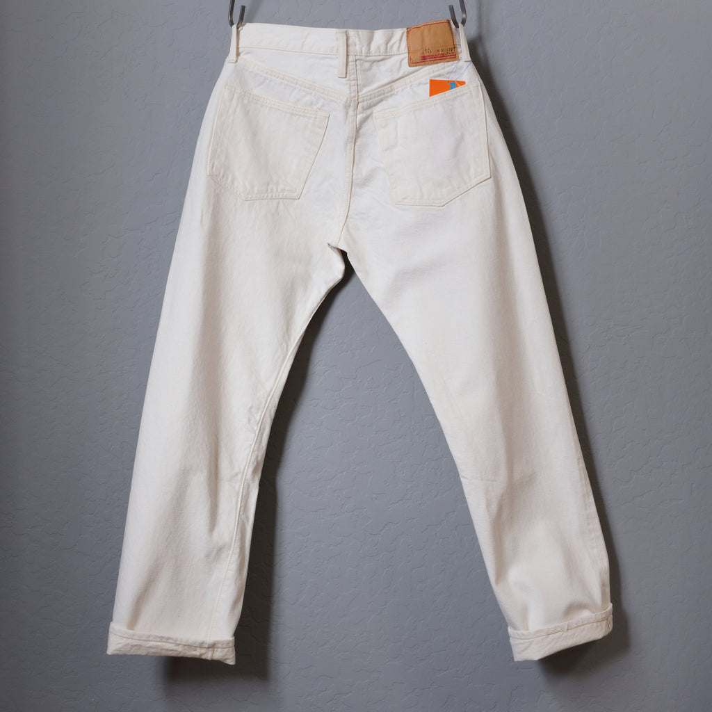 Resolute Straight Cut White Denim - AA711 (10 Years Anniversary Limited Edition)