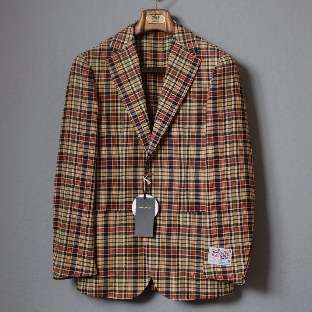 RING JACKET Madras Check 'Balloon' Jacket