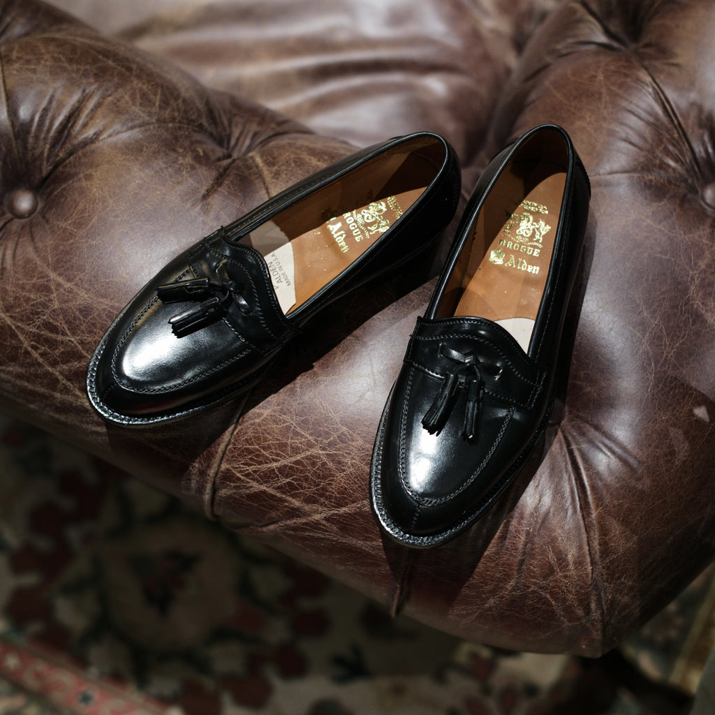 Alden x Brogue Lazy Gent Split Toe Tassel Loafer