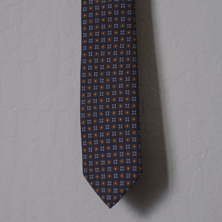 Drake's Small Flower Print Tie