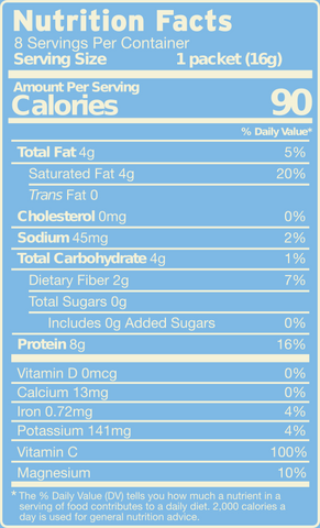 Collagen MCT Mix Rich Chocolate nutrition facts