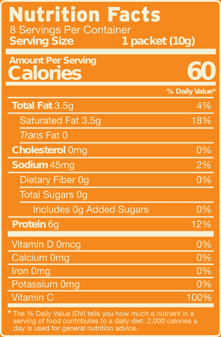 Collagen MCT Mix Original Flavor nutrition facts