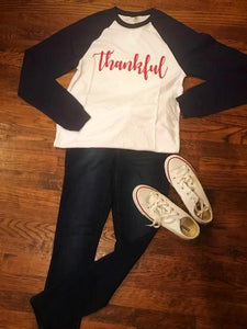 Thankful Long Sleeved Baseball Tee