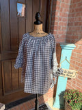 Plaid Baby Doll Top