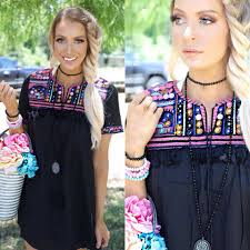 Daytona Black Tassel Tunic