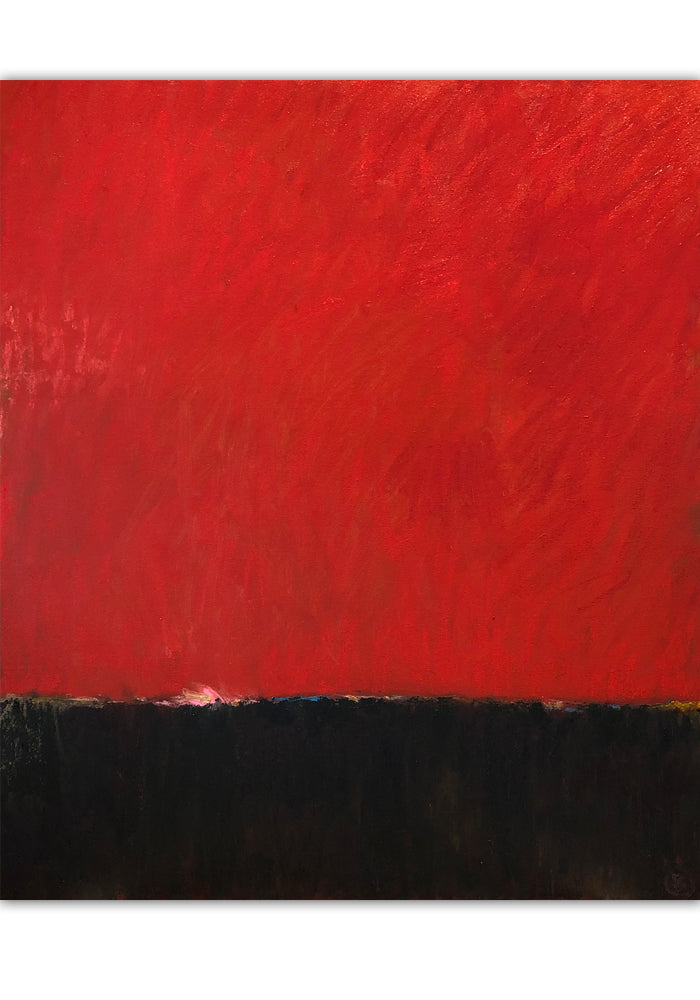 "Red on Black 30""x36"""