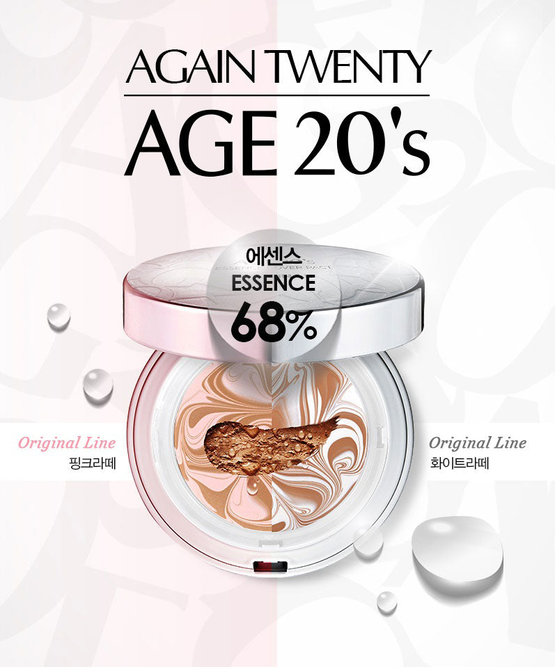 AGE 20'S Essence Cover Pact Original White Latte SPF50 12.5g + 12.5g Refill 3