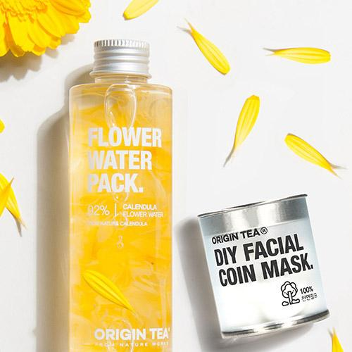 Origin Tea Real Flower Water + Coin Mask Set - Lulucos