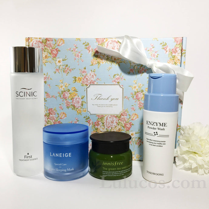 Lulu Moisturizing Skincare Set with Scinic Innisfree Tosowoong Laneige