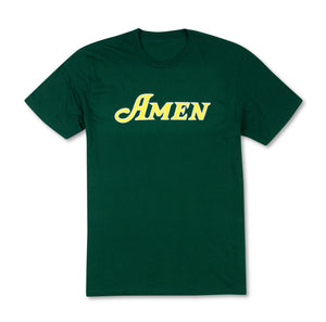 Amen Chest Logo T-Shirt - Green
