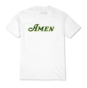 Amen Center Chest Logo T-Shirt - White