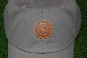 Circle Arkansas Dad Hat GREY