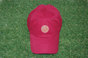 Circle Arkansas Dad Hat RED