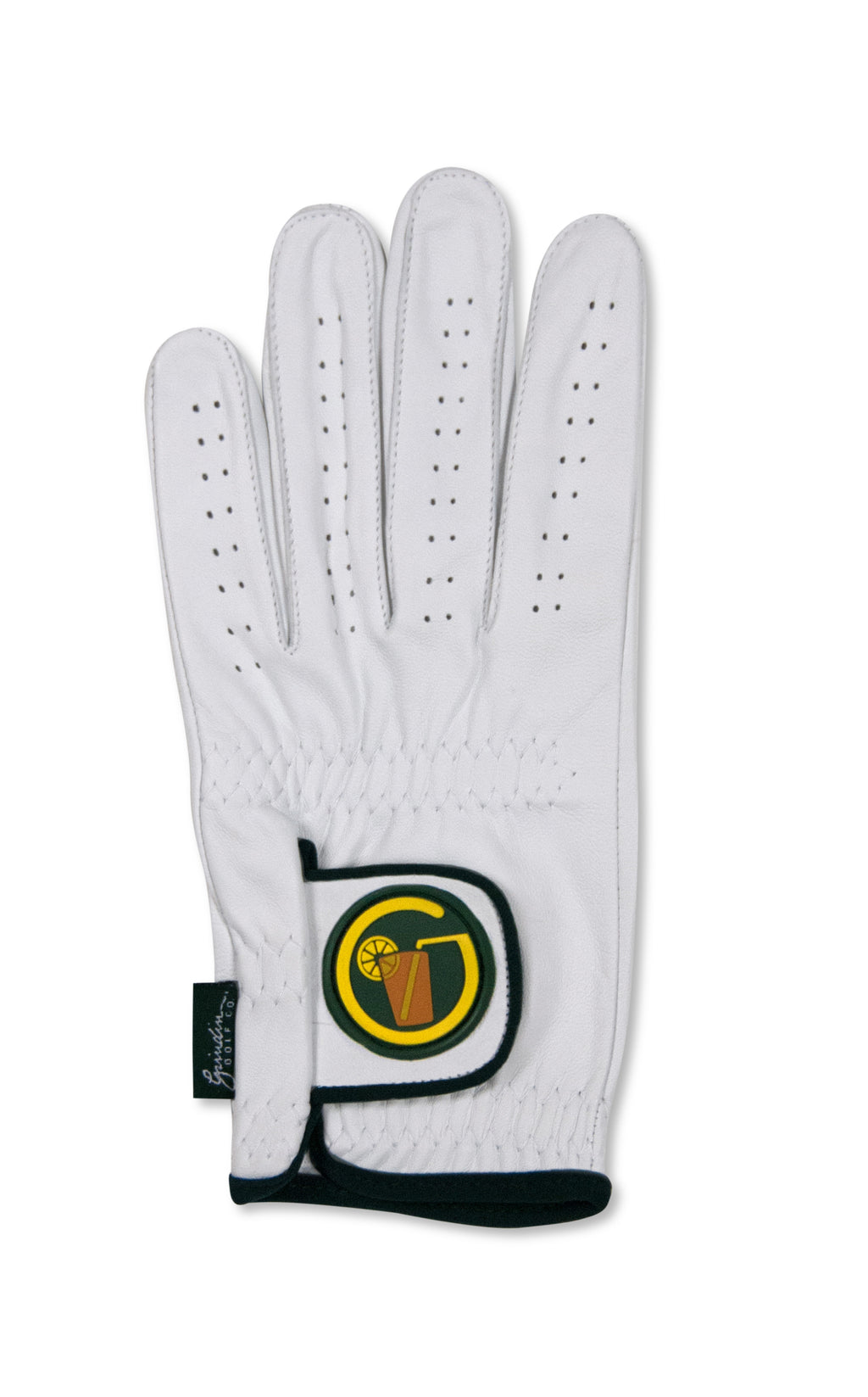 "Circle ""SWEET"" Tea Logo - White  Cabretta Leather Golf Glove"