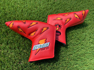 "Grindade Blade Putter Cover - Magnetic - Red ""Fruit Punch"""