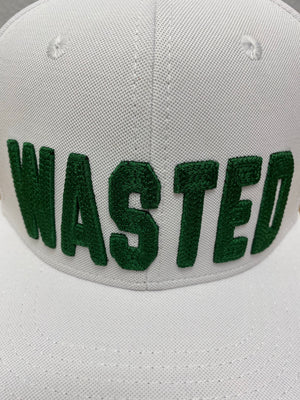 WaStEd Management Snapback WHITE Flat Bill