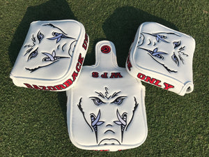 White Arkansas Use Only Mallet Putter Cover