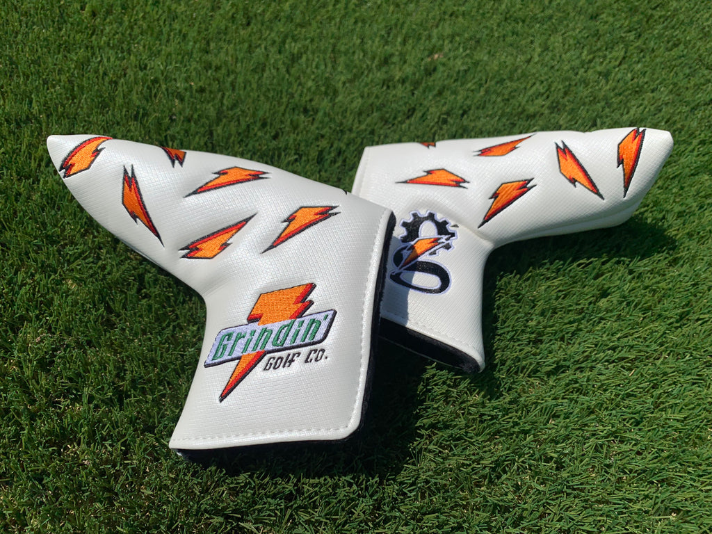"Grindade Blade Putter Cover - Magnetic - White ""Ice"""