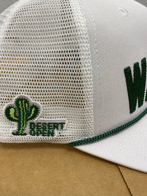 WaStEd Management ROPE Snapback Flat Bill WHITE