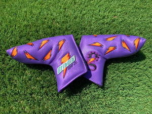 "Grindade Blade Putter Cover - Magnetic - Purple ""Grape"""