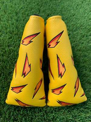 "Grindade Blade Putter Cover - Magnetic - Yellow ""Lemon Lime"""
