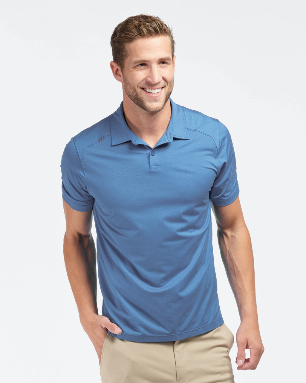 Commuter Tech Polo, Blue Dot Jacquard