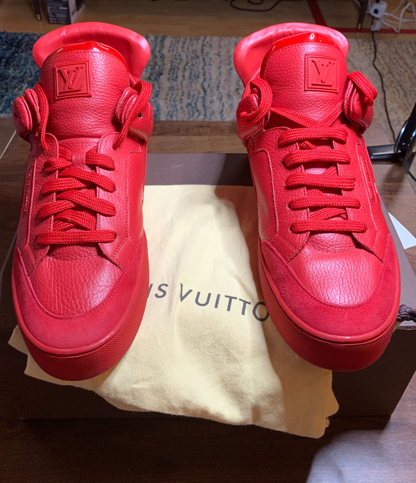 Louis Vuitton x Kanye West Dons, Red, LV Size 11, Original Box & Accessories