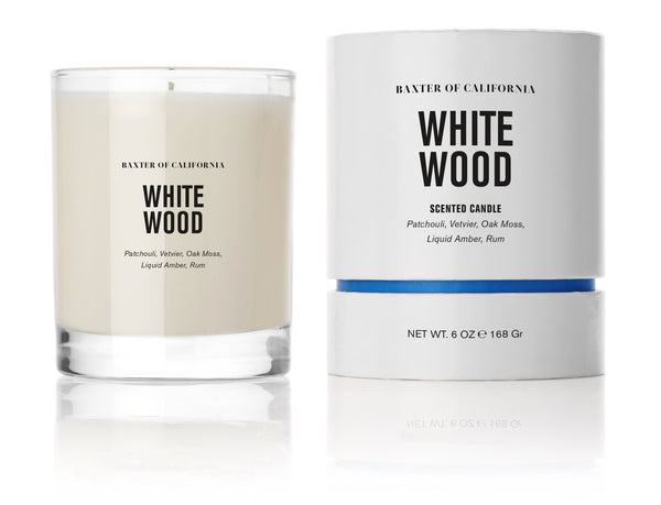 White Wood Candle, 6oz