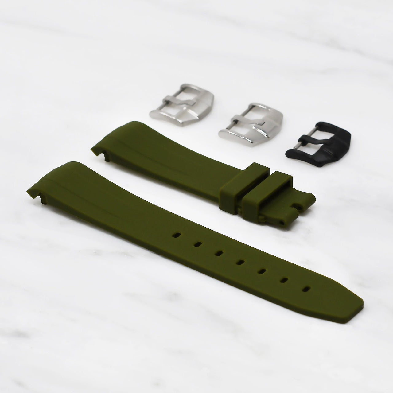 Rolex Olive Green Rubber Strap, 40mm