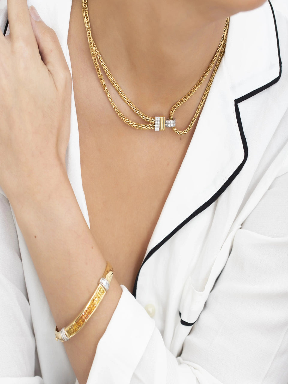 Pomellato Italy, Gold and Diamond Convertible Necklace