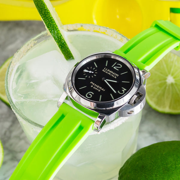 HORUS Solid Lime Green Rubber Strap, 26mm