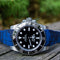 HORUS Rolex Navy Blue Digital Camo Rubber Strap, 40mm