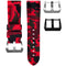 HORUS Red Camo Rubber Strap, 24mm