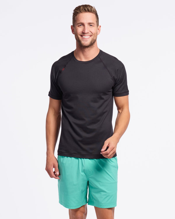 Reign Short Sleeve, Black Heather