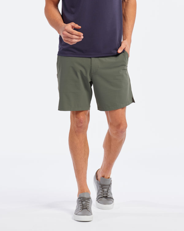 "Unlined Resort Shorts 8"", Olive"