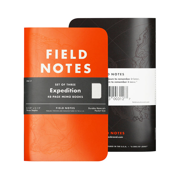 FNC-17 Expedition Edition, 3 Pack of 48-Page Memo Books