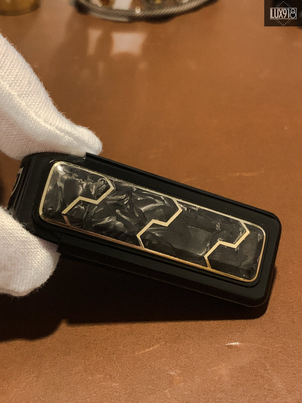 David Yurman 18K Gold & Forged Carbon Money Clip