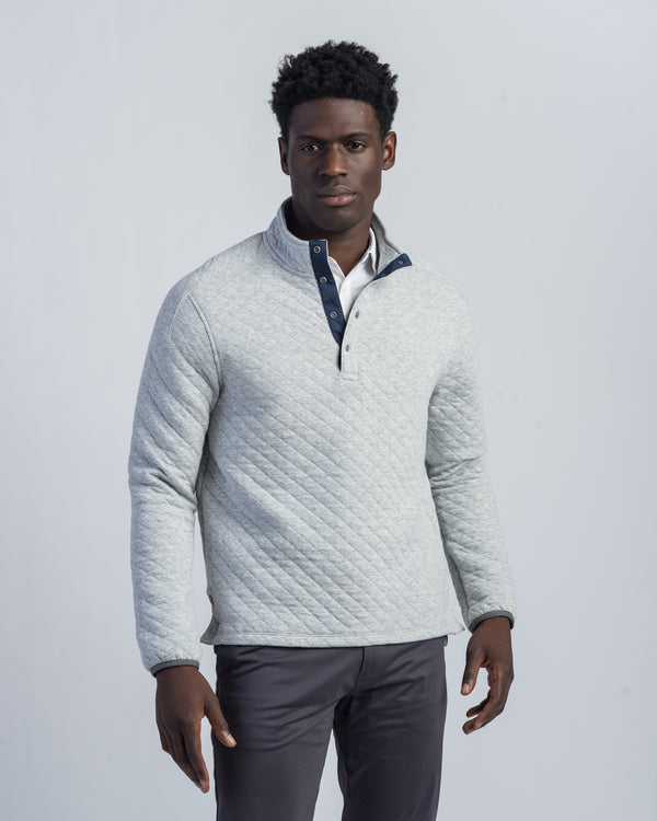 Gramercy Snap Pullover, Heather Gray