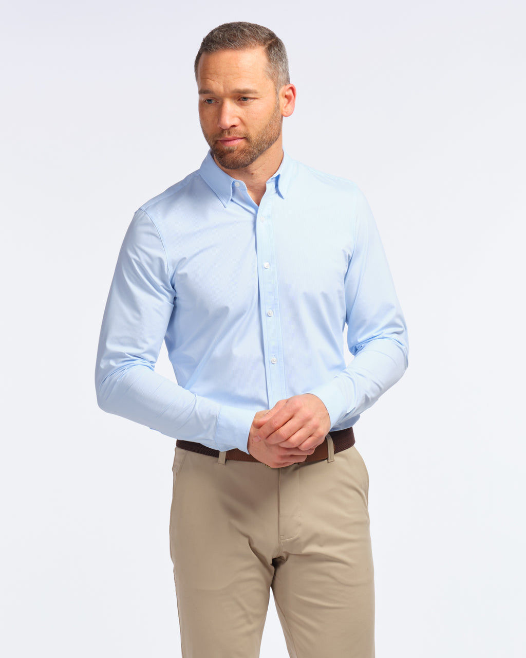 Commuter Dress Shirt, Blue Stripe