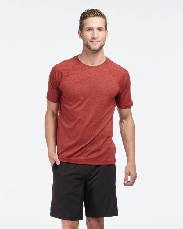 Reign Short Sleeve, Cherry Red Heather