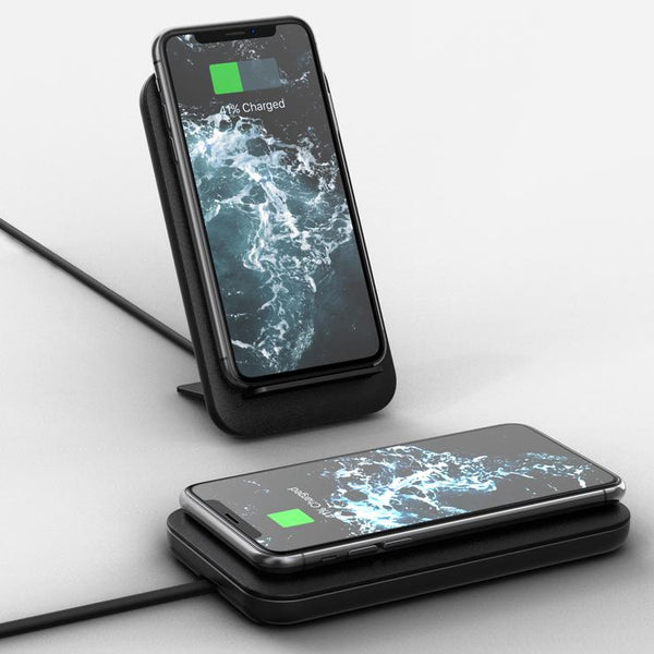 Leather & Aluminum Wireless Charging Stand
