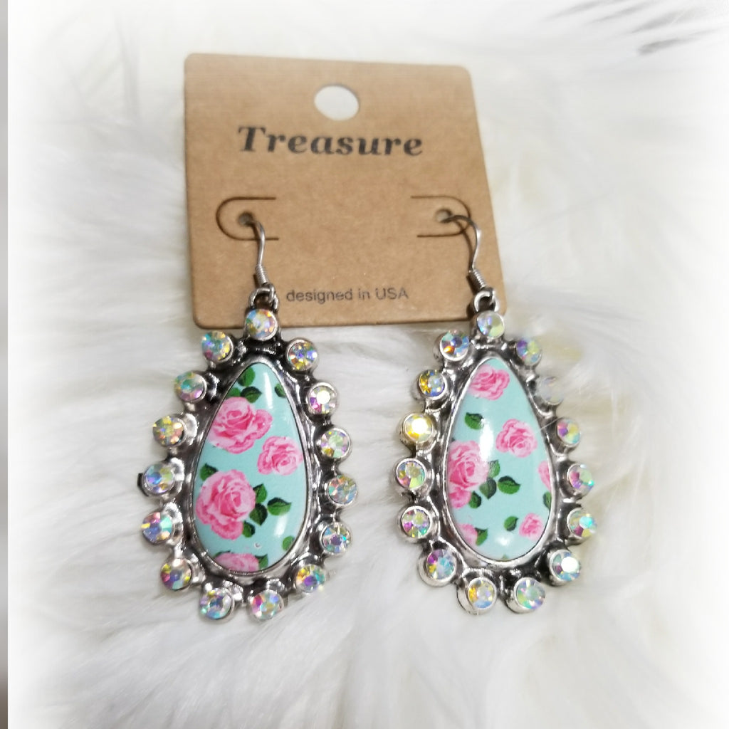 Floral Bling Earrings