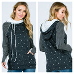 Dots & Stripes Double Hoodie