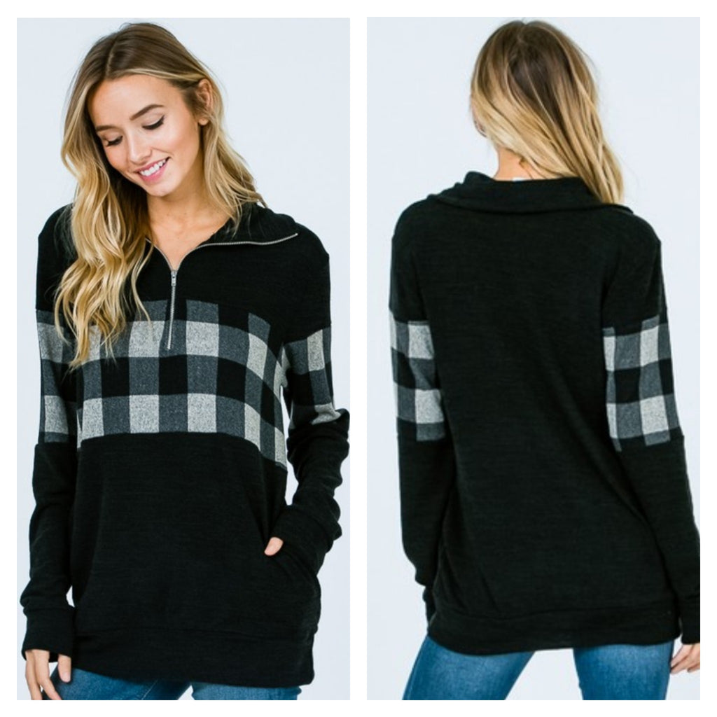Everything Is Better In Plaid Pullover