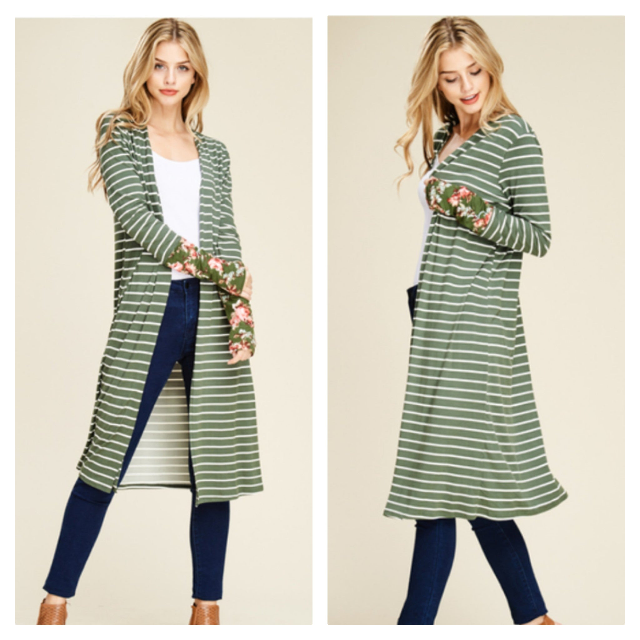 All The Feels Cardigan-Olive