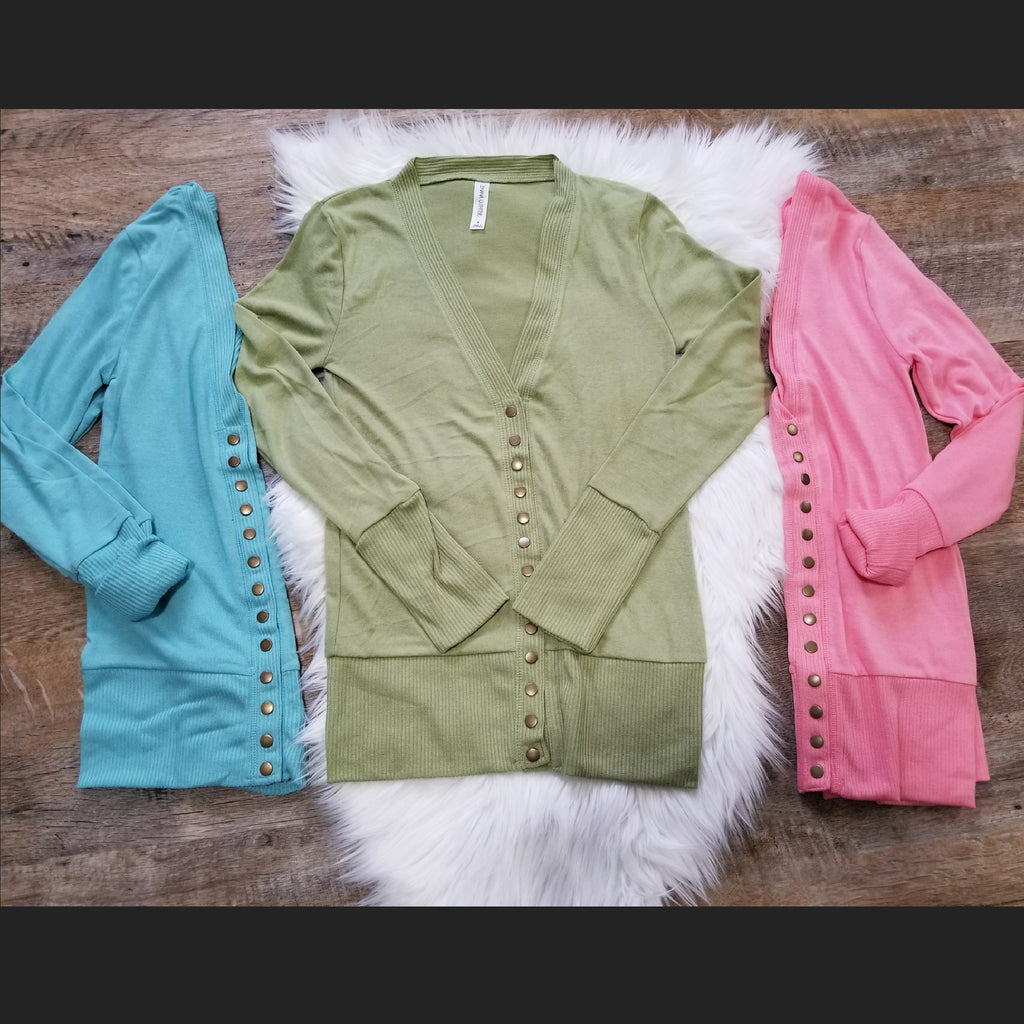Christina Snap Button Cardigan