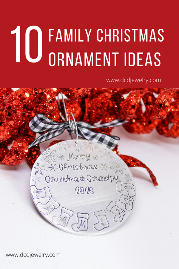 10 - 2020 family Christmas Ornament ideas