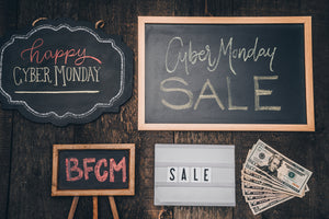 BFCM deals schedule!  Black Friday, Small Business Saturday, Cyber Monday