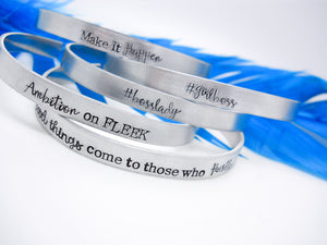 Inspirational Necklaces and Bracelets - Stack of 5 Cuff Bracelets